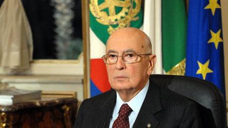 Il Presidente della Repubblica Italiana Giorgio Napolitano