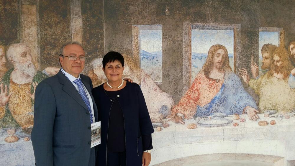 Luana Gallo e Claudio Chetta - Stipula Protollo per BIENNALE Dieta Mediterranea 2016 presso EXPO 2015 - Cenacolo di Leonardo