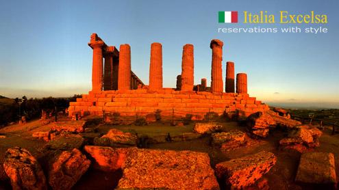 Sicilia - il tramonto nella Valle dei Templi