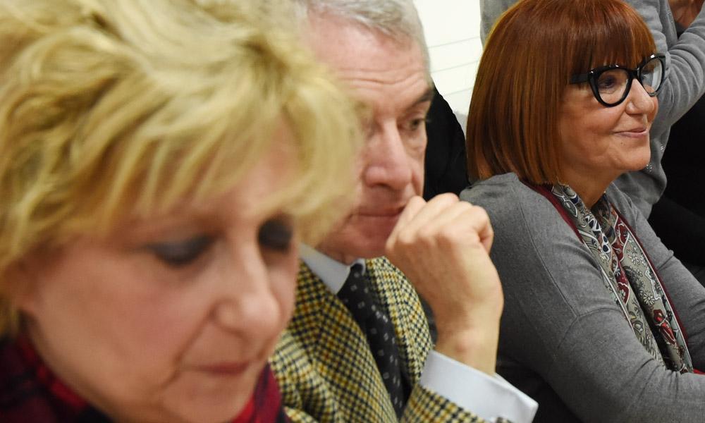 Da sx: Mariella Russo, Nico D'Ascola Presidente Commissione Giustizia del Senato, Adriana Musella