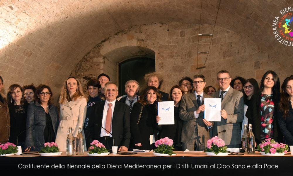 Biennale Dieta Mediterranea - alcuni dei sottoscrittori del Manifesto Costituente