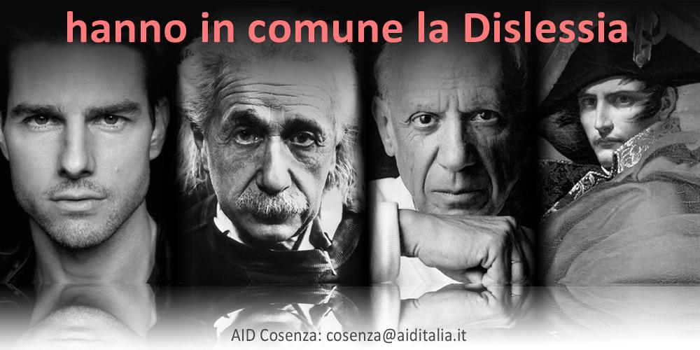 Napoleone, Picasso, Einstein, Cruise, geniali, eroi, dislessici