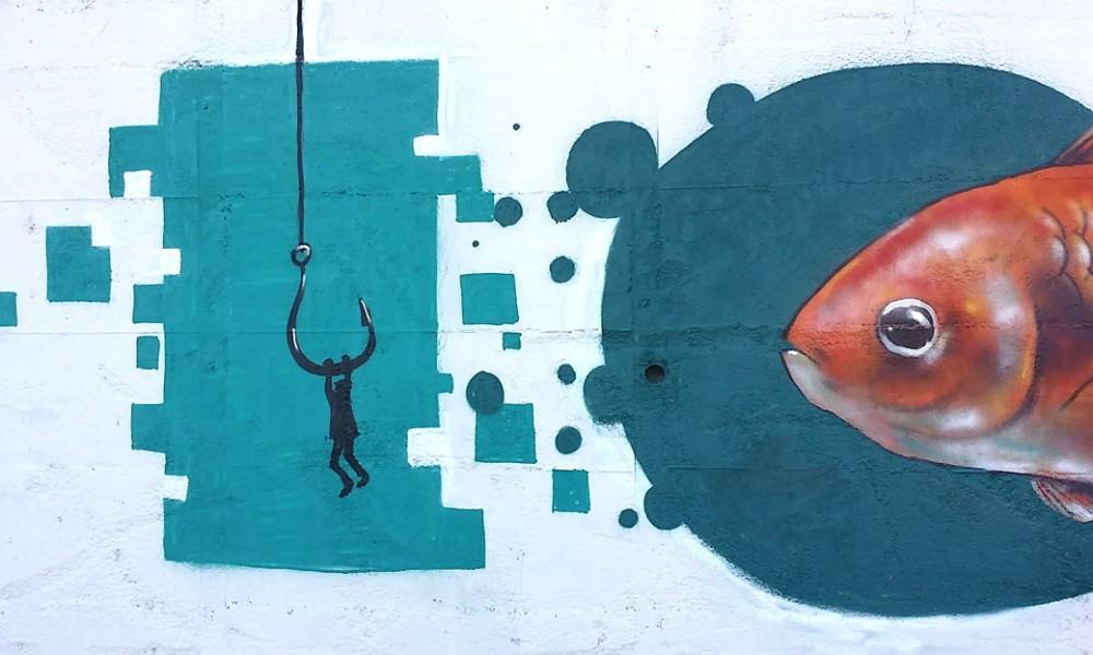 Uno dei graffiti di GraffArte di Luglio 2016 nella Città di Paola